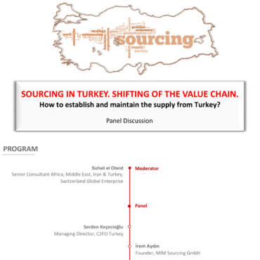 "30 September 2020, Online ""SOURCING IN TURKEY. SHIFTING OF THE VALUE CHAIN."""