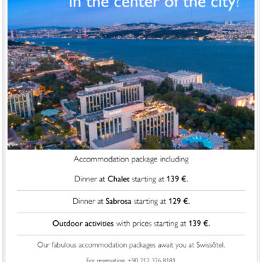 Fabulous Accommodation Package await you at Swissôtel